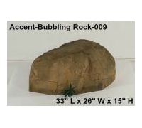 Accent Bubbling Rocks for Creative Gardens, Patios and Swimming Pools