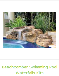 Beachcomber Swimming Pool Waterfalls Kits for a Tropical Water Feature Oasis