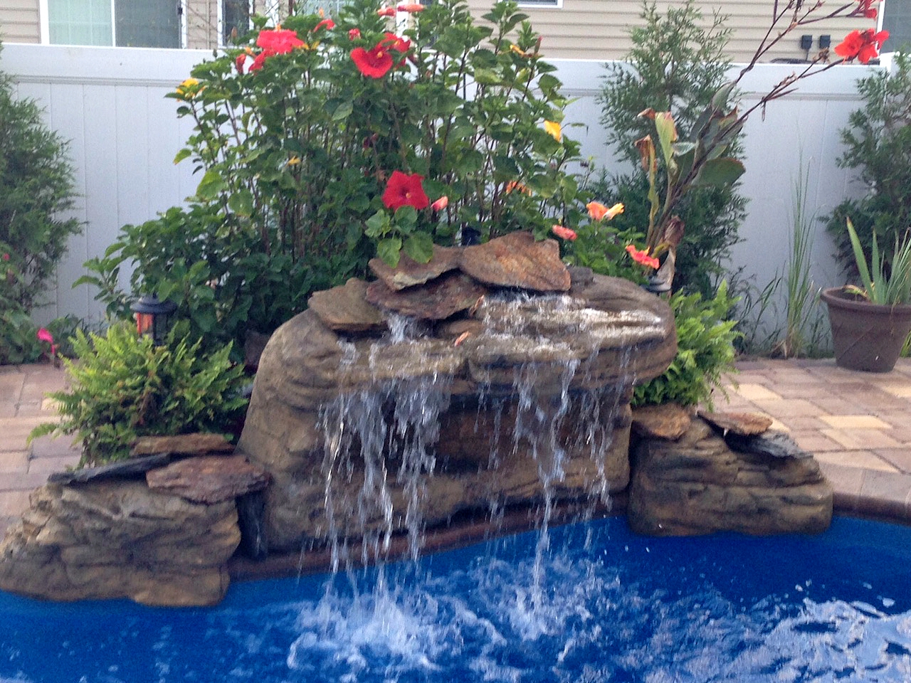 Waterfall Club | Backyard, Garden & Pool Rock Fake Waterfalls