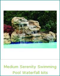 Medium Size Serenity Swimming Pool Waterfalls Kits