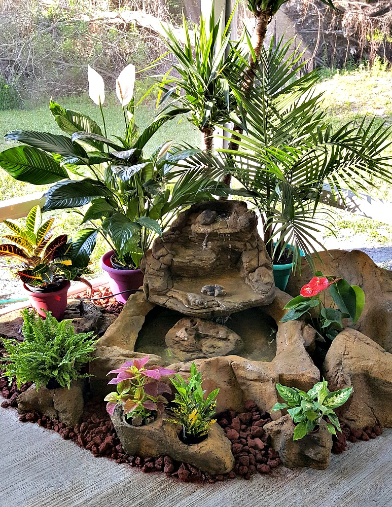 Mike's Awesome Small Patio Pond Waterfalls Kit with Optional Accent & Pot Rock Collections
