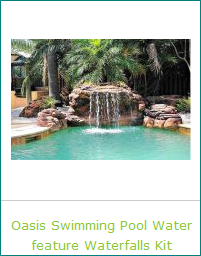Cool Oasis Cave Waterfalls Rock Kits for Pool Landscaping Ideas