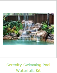 Serenity Swimming Pool Waterfall Kit for Pool Landscaping Beauty