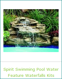 Awesome Beauty for a Swimming Pool Waterfall Oasis