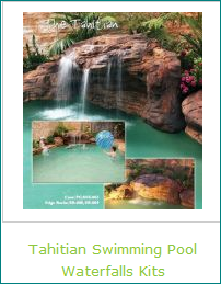Tahitian Swimming Pool Waterfalls Artificial Rock Kits