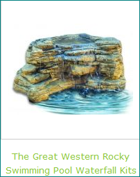 Stunning Swimming Pool The Great Western Rocky Waterfalls Kits