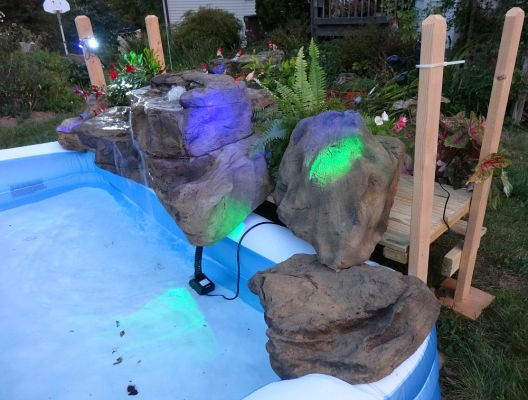 Artificial Rock Waterfalls For Above Ground Swimming Pools