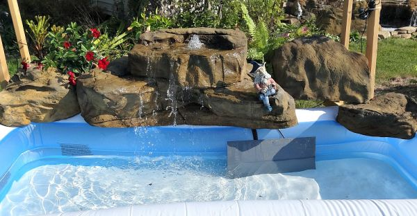 in ground pools with waterfalls. Unique Pools Outstanding Swimming Pool Waterfall Ideas For Above Ground Pools For In With Waterfalls Backyard Garden Pool Patio U0026 Pond Fake Rock